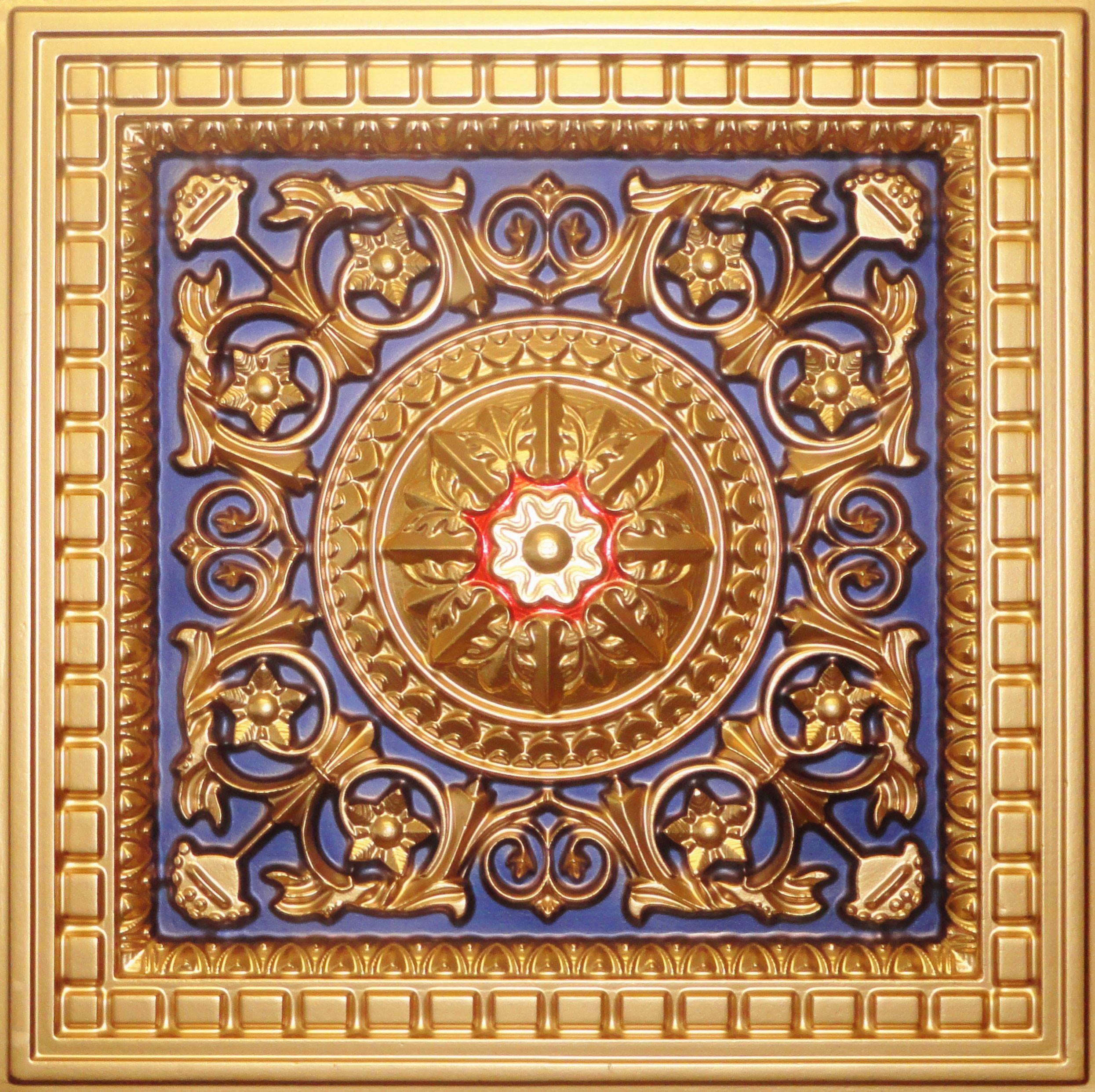 D215 pvc ceiling tile 24x24 drop in gold navy blue red faux d215 pvc ceiling tile 24x24 drop in gold navy blue red faux tin pvc ceiling tiles 2x2 dailygadgetfo Images