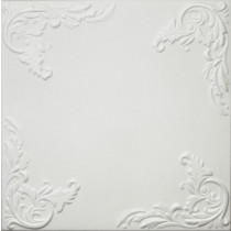 R101 STYROFOAM CEILING TILE 20X20 - PLAIN WHITE