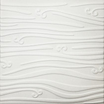 R102 STYROFOAM CEILING TILE 20X20 - PLAIN WHITE