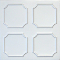 R1 STYROFOAM CEILING TILE 20X20 - PLAIN WHITE