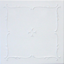 R5 STYROFOAM CEILING TILE 20X20 - PLAIN WHITE