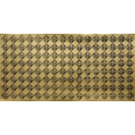 FAUX TIN PVC BACKSPLASH ROLL WALL COVERING - WC80 FLEUR DE LIS - ANTIQUE BRASS 25'x2'