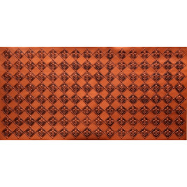 FAUX TIN PVC BACKSPLASH ROLL WALL COVERING - WC80 FLEUR DE LIS - ANTIQUE COPPER 25'x2'