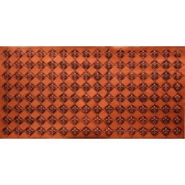 FAUX TIN PVC BACKSPLASH ROLL WALL COVERING - WC80 FLEUR DE LIS - ANTIQUE COPER 30'x2'