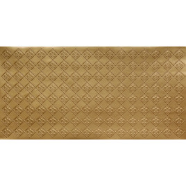 FAUX TIN PVC BACKSPLASH ROLL WALL COVERING - WC80 FLEUR DE LIS - BRASS 25'x2'