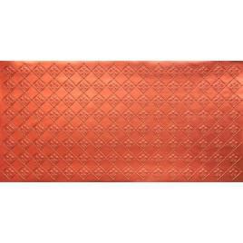 FAUX TIN PVC BACKSPLASH ROLL WALL COVERING - WC80 FLEUR DE LIS - COPPER 25'x2'