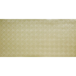 FAUX TIN PVC BACKSPLASH ROLL WALL COVERING - WC80 FLEUR DE LIS - CREAM PEARL 30'x2'