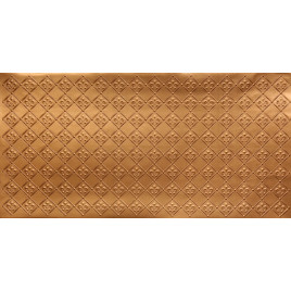 FAUX TIN PVC BACKSPLASH ROLL WALL COVERING - WC80 FLEUR DE LIS - GOLD 25'x2'
