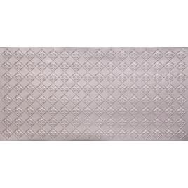 FAUX TIN PVC BACKSPLASH ROLL WALL COVERING - WC80 FLEUR DE LIS - SILVER 25'x2'