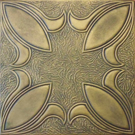 R16 STYROFOAM CEILING TILE 20X20 - ANTIQUE BRASS