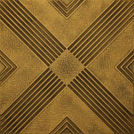 R34 STYROFOAM CEILING TILE 20X20 - ANTIQUE GOLD