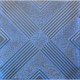 R34 STYROFOAM CEILING TILE 20X20 - BLACK BLUE