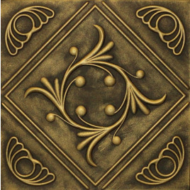 R2 STYROFOAM CEILING TILE 20X20 - ANET - ANTIQUE BRASS