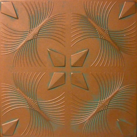 R41 STYROFOAM CEILING TILE 20X20 - COPPER PATINA