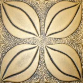 R7 STYROFOAM CEILING TILE 20X20 - TULIP - ANTIQUE GOLD