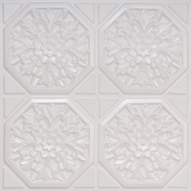 D108 PVC CEILING TILE 24X24 GLUE UP - WHITE PEARL
