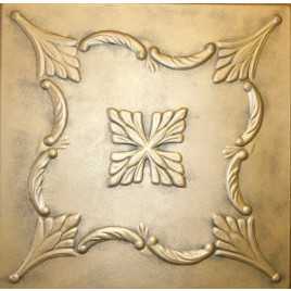 R38 STYROFOAM CEILING TILE 20X20 - ANTIQUE GOLD