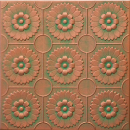 R36 STYROFOAM CEILING TILE 20X20 - COPPER PATINA