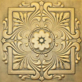 R22 STYROFOAM CEILING TILE 20X20 - ANTIQUE GOLD