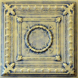 R47 STYROFOAM CEILING TILE 20X20 - ANTIQUE GOLD