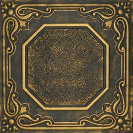 R32 STYROFOAM CEILING TILE 20X20 - LISBONA - BLACK GOLD