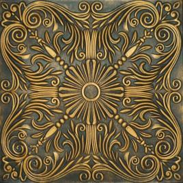 R39 STYROFOAM CEILING TILE 20X20 - BLACK GOLD