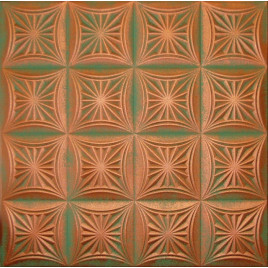 R40 STYROFOAM CEILING TILE 20X20 - COPPER PATINA