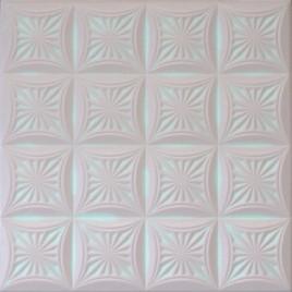 R40 STYROFOAM CEILING TILE 20X20 - WHITE PINK