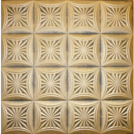 R40 STYROFOAM CEILING TILE 20X20 - ANTIQUE GOLD