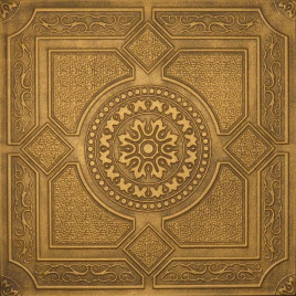 R30A STYROFOAM CEILING TILE 20X20 - LIMA - ANTIQUE GOLD BROWN