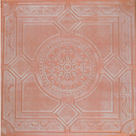 R30A STYROFOAM CEILING TILE 20X20 - LIMA - WHITE COPPER