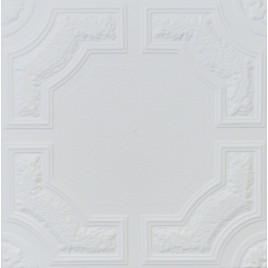R28A STYROFOAM CEILING TILE 20X20 - ANTIQUE WHITE MATTE