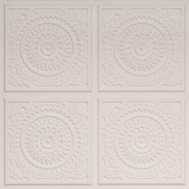 D117 PVC CEILING TILE 24X24 GLUE UP - WHITE MATTE