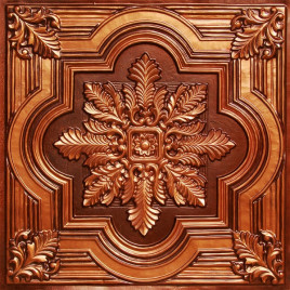 D206 PVC CEILING TILE 24X24 GLUE UP / DROP IN - ANTIQUE COPPER