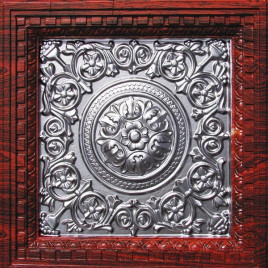 VC 02 PVC CEILING TILE 24X24 DROP IN - ROSEWOOD SILVER