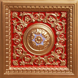 VC 02 PVC CEILING TILE 24X24 DROP IN - RED GOLD