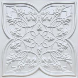 D212 PVC CEILING TILE 24X24 GLUE UP / DROP IN - WHITE MATTE