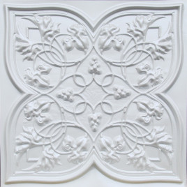 D212 PVC CEILING TILE 24X24 GLUE UP / DROP IN - WHITE PEARL