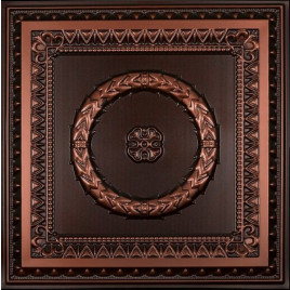 D210 PVC CEILING TILE 24X24 GLUE UP / DROP IN - ANTIQUE COPPER