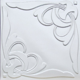 D216 PVC CEILING TILE 24X24 GLUE UP / DROP IN - WHITE PEARL