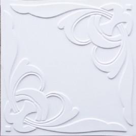 D216 PVC CEILING TILE 24X24 GLUE UP / DROP IN - WHITE MATTE