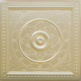 D221 PVC CEILING TILE 24X24 GLUE UP / DROP IN - CREAM PEARL