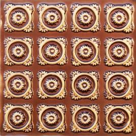 D118 PVC CEILING TILE 24X24 GLUE UP - ANTIQUE GOLD