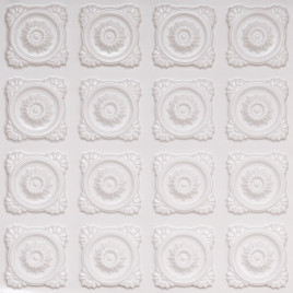 D118 PVC CEILING TILE 24X24 GLUE UP - WHITE PEARL