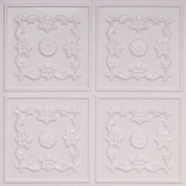 D130 PVC CEILING TILE 24X24 GLUE UP - WHITE PEARL