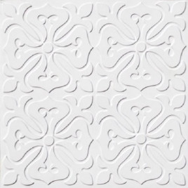 D101 PVC CEILING TILE 24X24 GLUE UP - WHITE MATTE