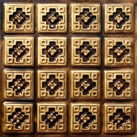 D103 PVC CEILING TILE 24X24 GLUE UP - ANTIQUE GOLD