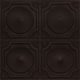D106 PVC CEILING TILE 24X24 GLUE UP - BLACK