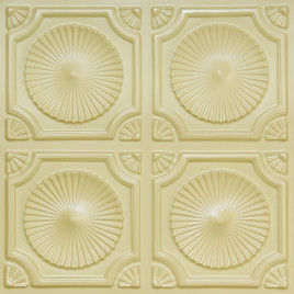 D106 PVC CEILING TILE 24X24 GLUE UP - CREAM PEARL