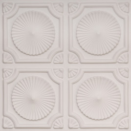 D106 PVC CEILING TILE 24X24 GLUE UP - WHITE MATTE